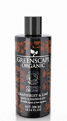 Bath & Shower gel Grapefruit och Lime, 300 ml, Greenscape i gruppen Välbefinnande / Body Care hos Badrumsbutiken.se (52692-GREE)