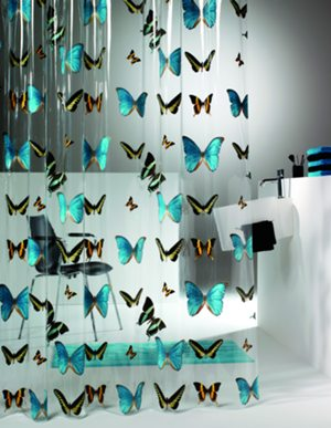 Butterfly, duschdraperi, vinyl, Sealskin i gruppen Textil / draperi / Sealskin / Duschdraperi / Vinyl hos Badrumsbutiken.se (V210571302)