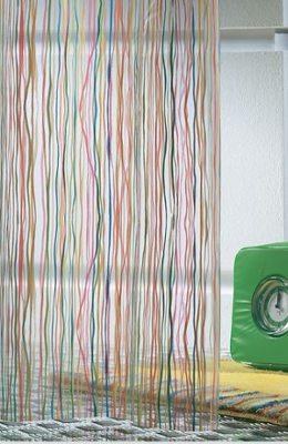 Duschdraperi, rigato, Sealskin i gruppen Textil / draperi / Sealskin / Duschdraperi / Vinyl hos Badrumsbutiken.se (V212181302)